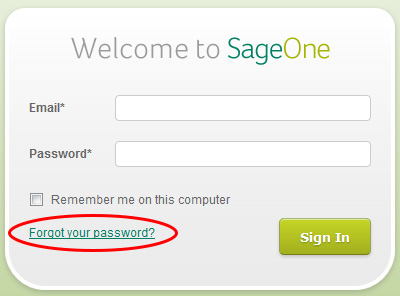 Forgotten Password
